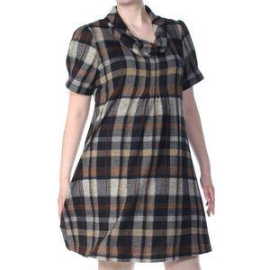 Jessica Howard Plaid Cowl Neckline Dress XL